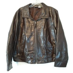 Cato Brown Faux Leather Jacket